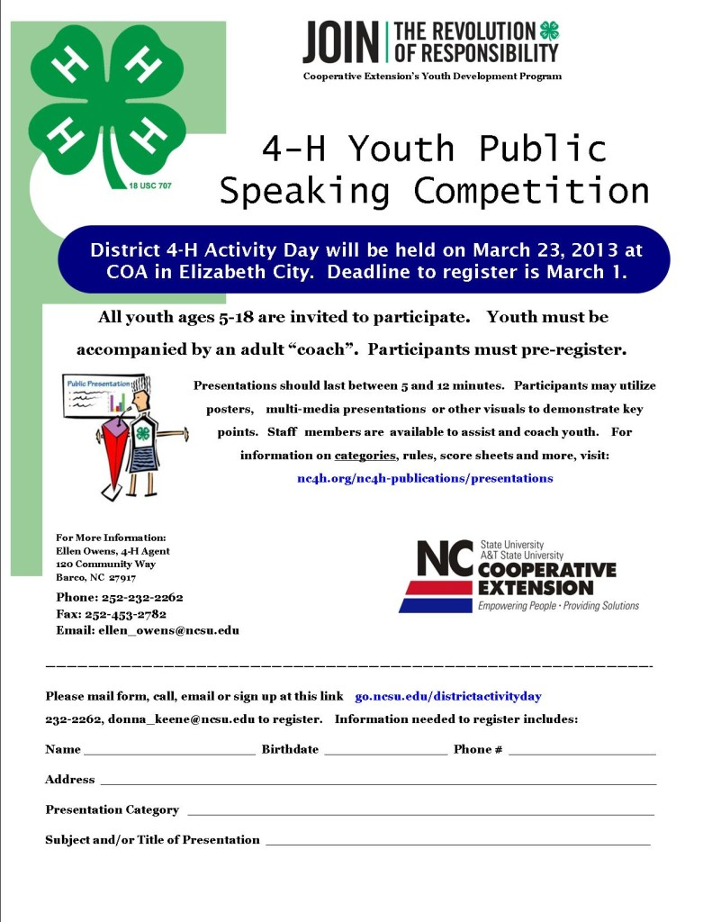 Youth Public Speaking Competition Open to All Ages 5-18 ...