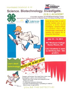 Cover photo for Science.Biotechnology.Investigate Camp 2013