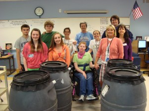 Cover photo for Rain Barrels at First Flight High School