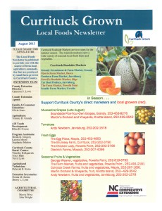Cover photo for Currituck Grown Local Foods Newsletter August 2013