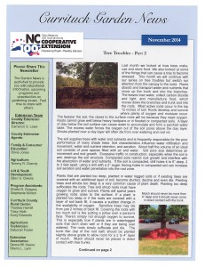 """Cover photo for Check out the latest edition of the """"Currituck Garden News"""""""