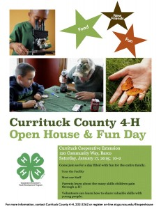 Cover photo for Currituck County 4-H Open House & Youth Fun Day