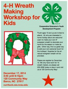 Cover photo for 4-H Wreath Making Workshop for Kids