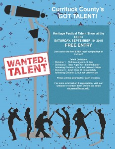 Heritage Festival Talent Contest flyer