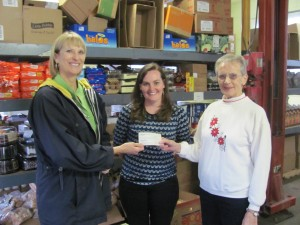 Peggy Lilienthal -Master Gardener Volunteer President,  Sarah Watts of  Currituck Extension, Polly Gregory of Lower Currituck Food Pantry