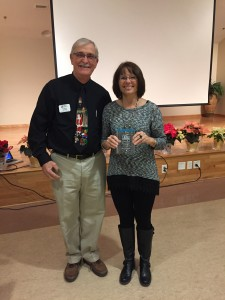 Tommy Grandy with Georgia Kight,                               Master Gardener of the Year.