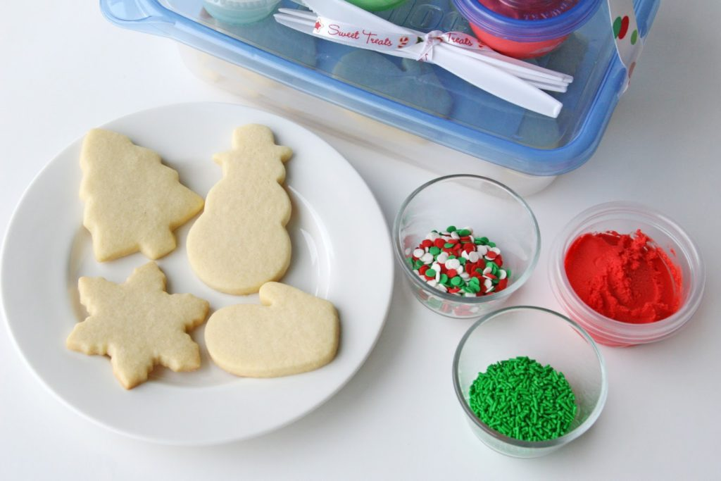 Holiday Cookies with icing and toppings