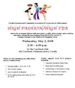 High Tea and Fashion Show flyer image