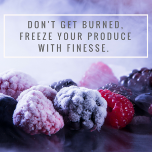 Freeze your produce with finesse banner image