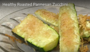 Healthy Parmesan Roasted Zucchini