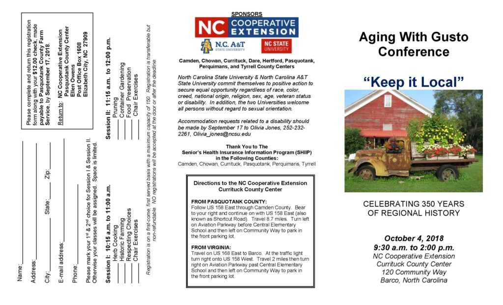Aging with Gusto flyer image