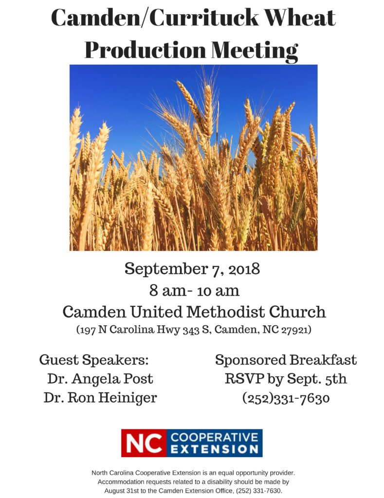 Wheat Production Meeting flyer image