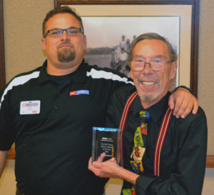 Master Gardener of the year awarded to Ken Ferguson by Chris Blaha