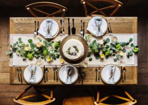 Beautifully set table