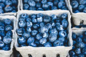 quart container of blueberries