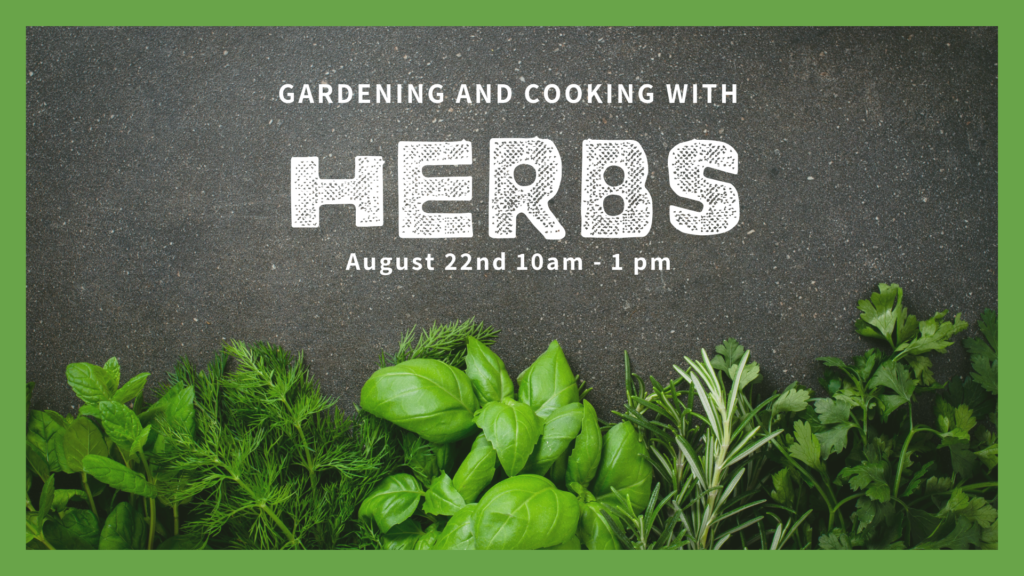"fresh herbs and words ""Gardening & Cooking with Herbs"""