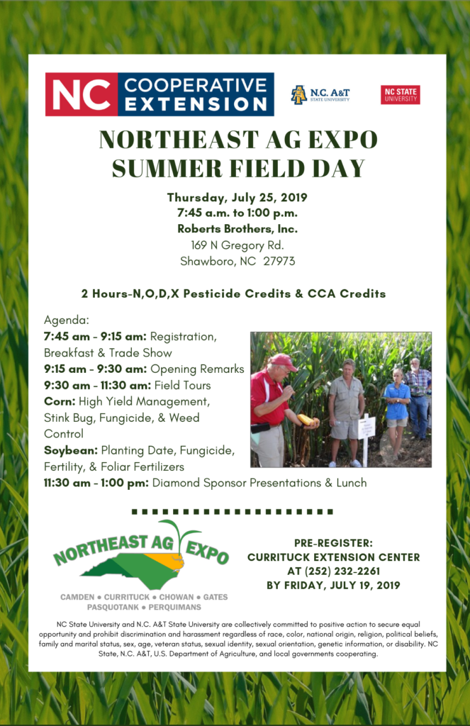 flier for NE AG Expo with details