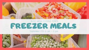 freezer meals in containers