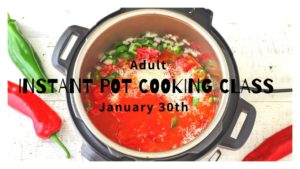 Cover photo for Cook It Quick With the Adult Instant Pot Cooking Class!