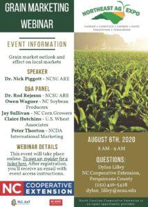 Flyer with info for Grain Marketing webinar