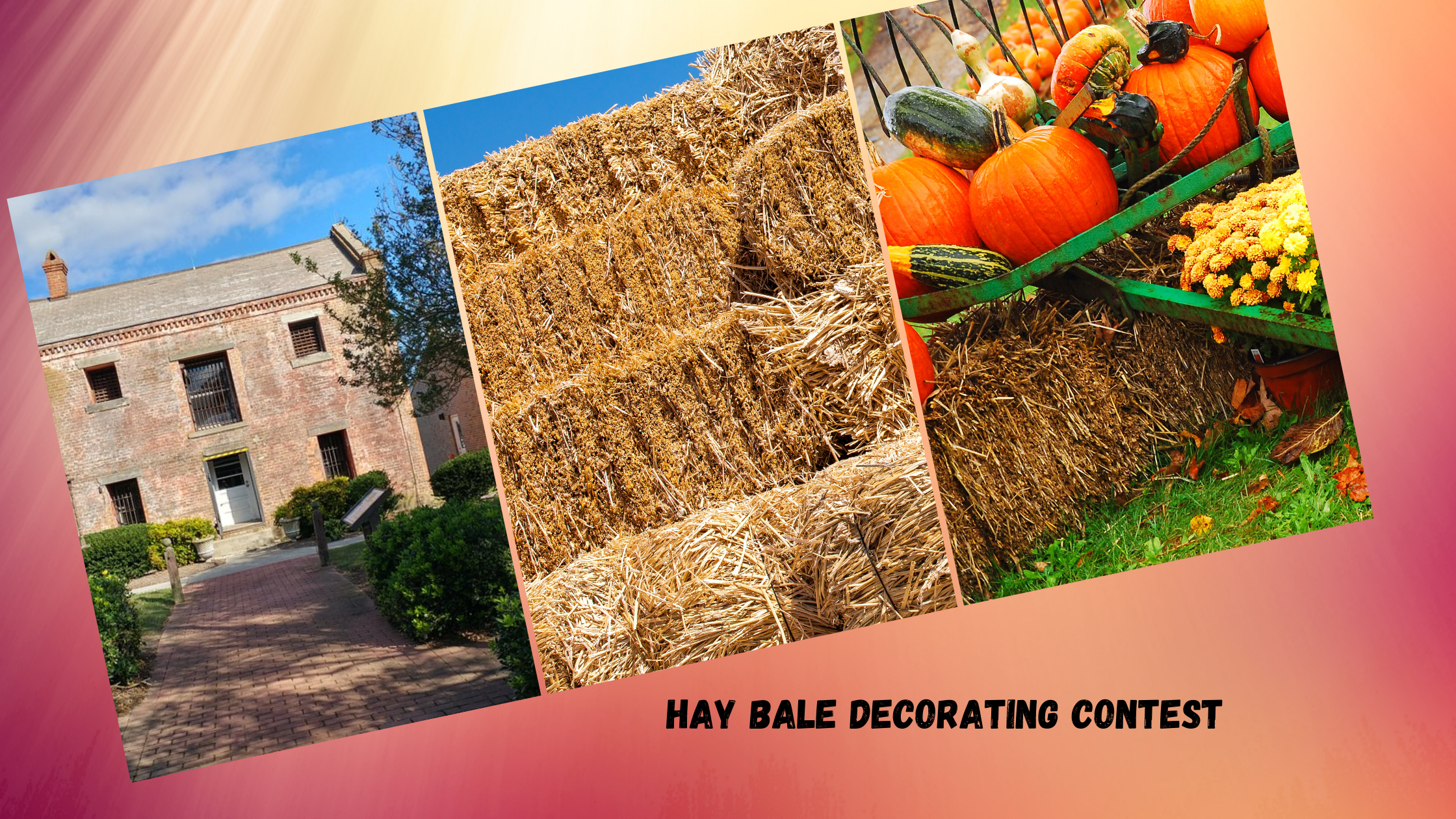 hay bale decorating contest