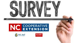 Survey flyer with Extension logo