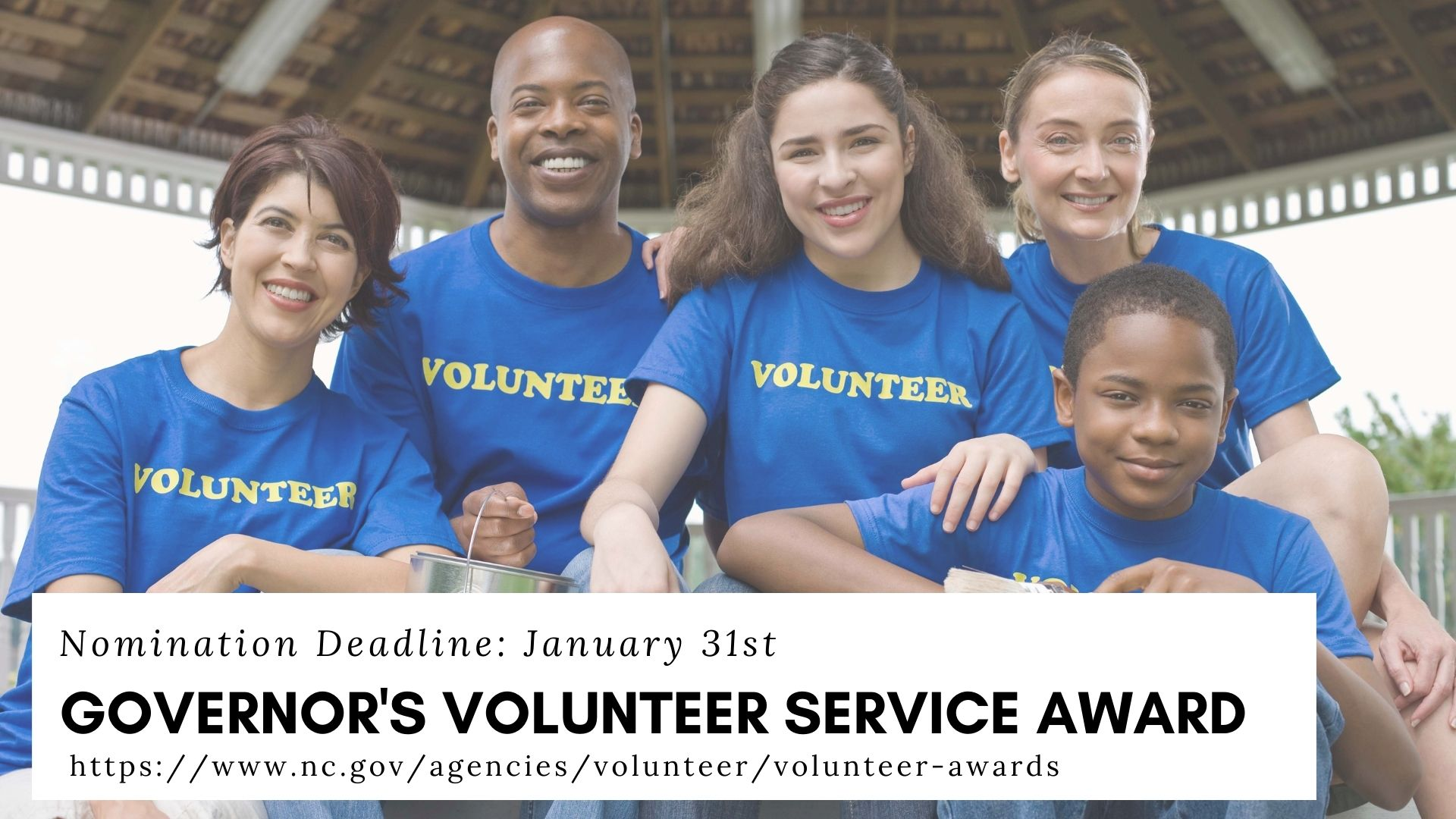 Governor's Volunteer Service Award Flyer-group of smiling people