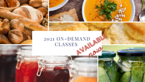 soups and jellies flier for on demand food classes