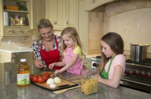 kids cooking in the kitchen