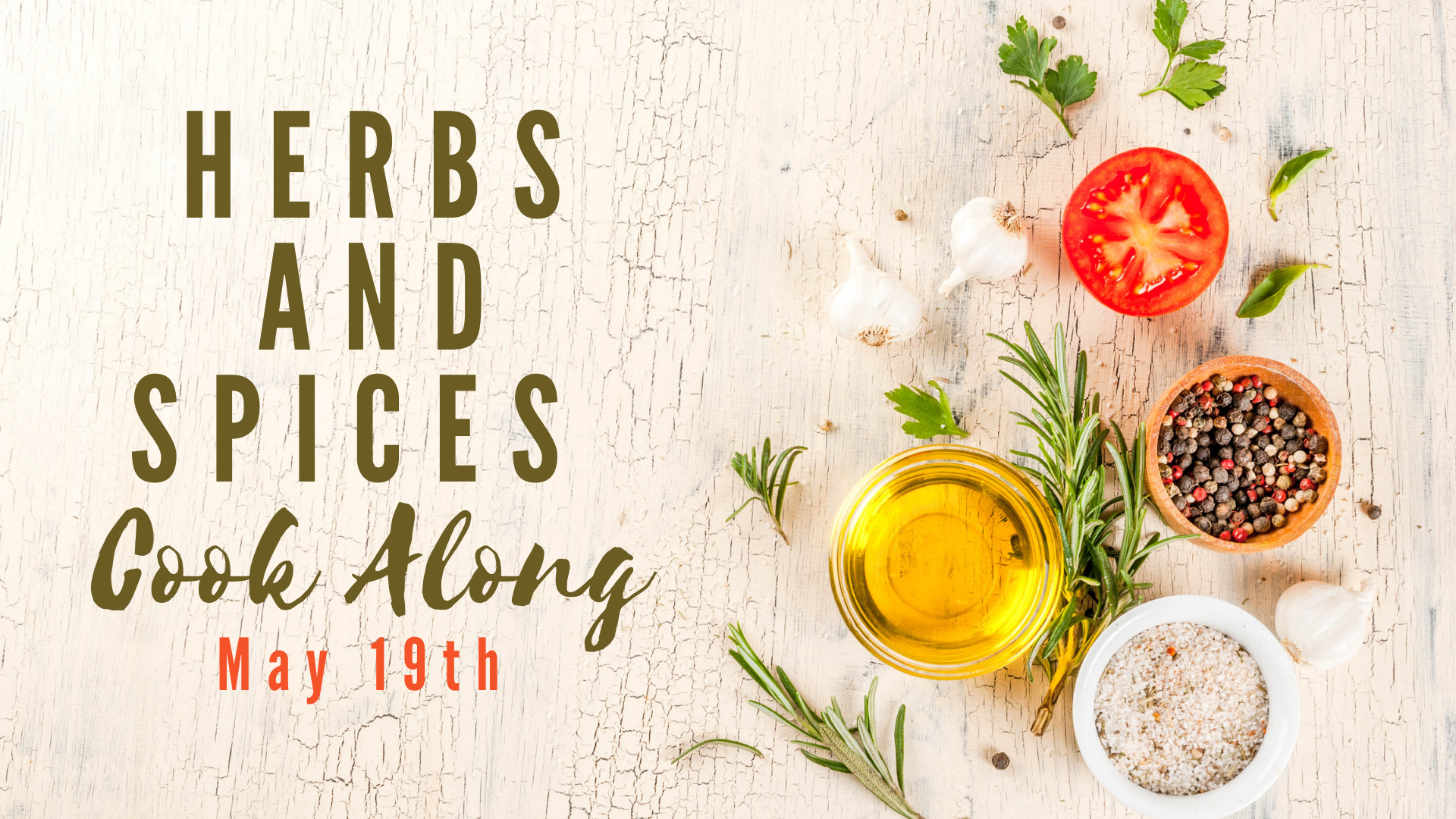 picture of herbs and spices class advertisement