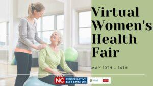 woman sitting on exercise ball-flyer advertising health fair