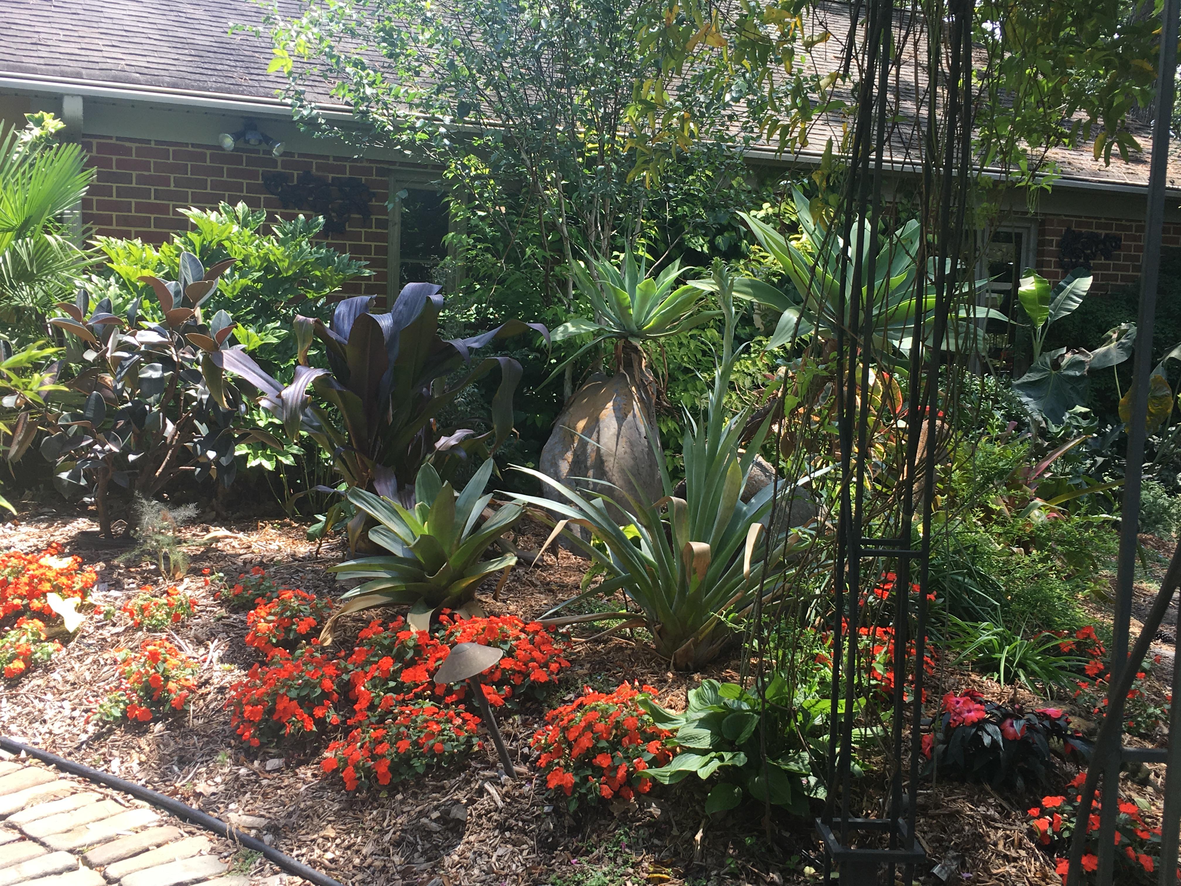 Landscaped flower bed