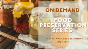 Cover photo for Summer 2021 On-Demand Food Preservation Series