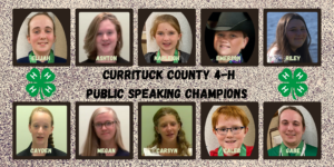 Cover photo for Public Speaking Champions - Currituck County 4-H