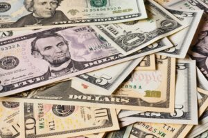 pictures of various denominations of cash