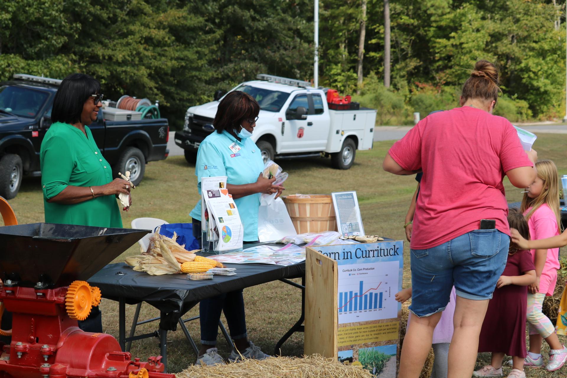 corn display at Farm Festival